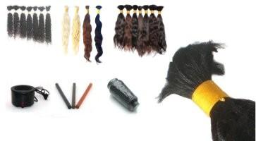 Haarverlängerungs-Methoden für lose Zöpfe