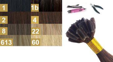 Haarverlängerungs-Methoden für Keratin-Bodings