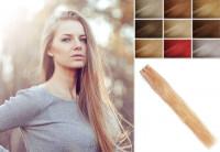 Aschig gefärbte glatte bis leicht gewellte Indische Echthaartresse