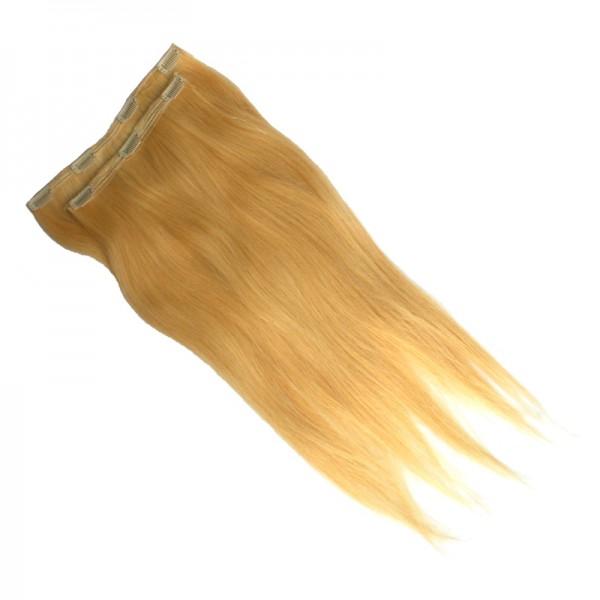 Echthaar Clip-In Extensions leicht gewellt - Blond